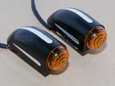 Black Turn Signal Lights Blinkers For Harley Dyna Softail Sportster Touring New