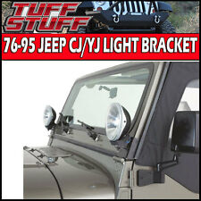 1976-1995 JEEP WRANGLER CJ/YJ UPPER WINDSHIELD MOUNT LIGHT BRACKETS FOR LED/HID
