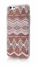 """Genuine GUESS tribal effet 3D argent etui housse pour iPhone 6 6s 4.7"""" taupe"""
