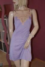 Edelsanftes Vintage Unterkleid Nylon Kunstseide Charmeuse Prachtspitze Venus 46