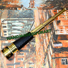 "17"" NAUTICAL TELESCOPE ANTIQUE SCOPE BRASS PIRATE SPYGLASS VINTAGE Monocular"
