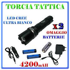 TORCIA TATTICA MILITARE CREE LED 6000 LUMEN XENON SOFTAIR ZOOM RICARICABILE.