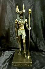 Bronze Cold Cast Statue Of Egyptian Jackal God Of The Dead ANUBIS  39cm H