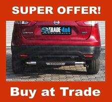 NISSAN QASHQAI VIPER REAR STEP BAR BUMPER GUARD STAINLESS STEEL 60MM 2014 ON J11