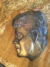 Vintage Estate John F Kennedy Plaque Brass Coated Collectible