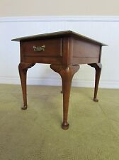 HARDEN SOLID CHERRY QUEEN ANNE END TABLE, NIGHTSTAND, ACCENT TABLE