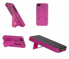 Dark Pink Hard Case Non-Slip Back with Stand Holder for Apple iphone 4 4G 4S