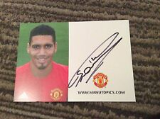 CHRIS SMALLING (MANCHESTER UNITED) SIGNED CLUB CARD- NEW STYLE