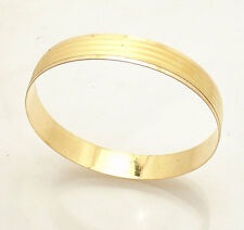 21gr Small Size Textured Bangle Bracelet Real 22K Yellow Gold 22 AYAR BILEZIK