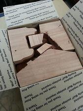 Large Flat Rate Box - Scrap Mahogany Wood - 005