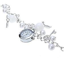 Donna Adorabile Gioielli Orologio struttura in metallo perla vetro cristallo
