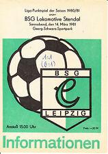 DDR-Liga 80/81 BSG Químicos Leipzig - BSG Locomotora Stendal 14.03.1981