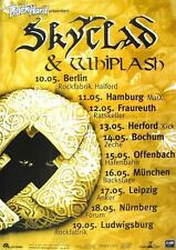 "SKYCLAD / WHIPLASH TOUR POSTER / KONZERTPLAKAT ""IRRATIONAL ANTHEMS TOUR"""