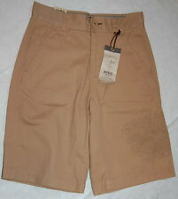 NO BOUNDARIES BERMUDA SHORTS Womens 28 TAN 29x11 Khaki