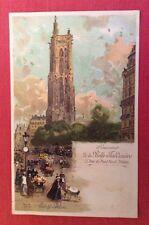 CPA. Souvenir de la BELLE JARDINIERE. PARIS. Tour St Jacques. Luigi LOIR.