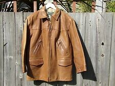 VINTAGE Ralph Lauren Country made in USA moto stile RAMATO Giacca in Pelle