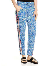 NWT French Connection Bali in Batik Drawstring Lightweight Trouser Pants 6 $98