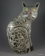 TONY WHITE Studio Pottery Large CAT Sculpture - Free UK Post