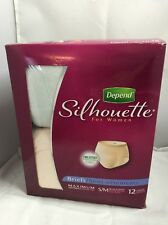 Depend Silhouette for Women Briefs, Small/Medium, Single Pack of 12