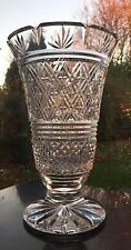 "Waterford footed and fluted large 10"" vase signed first quality 2.3kg! stunning"