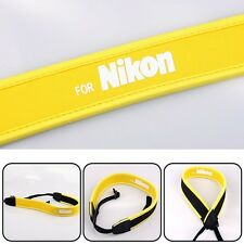 camera full yellow Neoprene Neck Strap for Nikon