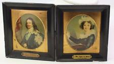 Antique Miniature Paintings Charles of England Van Dyke & Mme. Vigee Lebrun