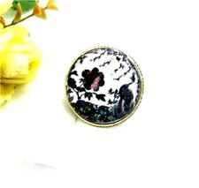 Chunky vintage Art Deco resin peacock peony flower ring