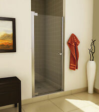 "MAAX 26"" MADONO 1/4"" ONE-PANEL FRAMELESS GLASS PIVOT DOOR FOR ALCOVE SHOWER"