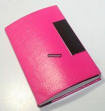 PU Leather Design Magnetic Business Card, Credit Card, Name Card Holder(F Pink)