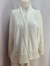 Jones New York Woman White Shawl Collar Cardigan Sweater, Women's Sz 2X