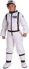 Child Astronaut Costume Space Explorer White Flight Suit Kids Size Large 12-14