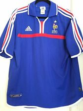 2000-02 France Adidas Les Bleus Vintage FIFA Euro 2000 Authentic Jersey Size XL