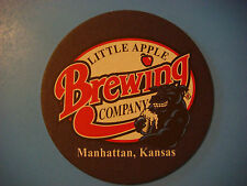Beer COASTER ~*^*~ LITTLE APPLE Brewing Co ~ Manhattan, KANSAS    Opened in 1995
