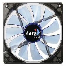 Aerocool 14cm Lightning Transparent Blue LED PC Case Cooling Fan 3Pin/4Pin Conne