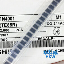 200PCS  NEW  1N4001 LL4001 M1 SMD 1N4001 1A 50V Rectifie Diodes