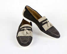 New SUTOR MANTELLASSI Brown Suede Leather Tassel Boat Shoes Size 9 US $750