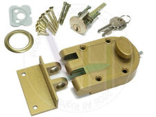 NuSet Single Cylinder Bronze Painted Jimmy-Resistant Entry Door Deadlock