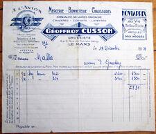 Art Deco 1951 Letterhead w/Airplane: Geoffroy Cusson- Haberdashery/Hosiery/Shoes