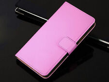 Flip Plain Genuine Leather Wallet Case Cover Holder For HTC One/Desire Series