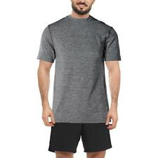 RBX 0620 Mens Gray Moisture Wicking Short Sleeves Compression Top Shirt L BHFO