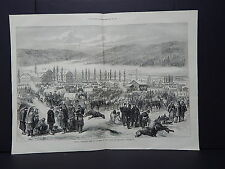 Illustrated London News Double-Page S7#03 Feb 1871 General's Army in Switzerland