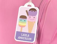 Bright Star Kids Personalised Name Tag for School Book Bag / Luggage - Ice Cream