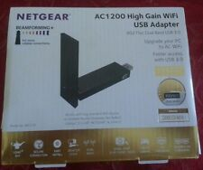 Netgear AC1200 Wi-Fi USB Adapter High Gain Dual Band USB 3.0 (A6210-100PAS) NEW