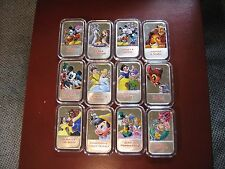 DISNEY BEAUTY & BEAST MICKEY ARIEL ENAMEL 999 SILVER BAR PER EACH--11 LEFT READ!