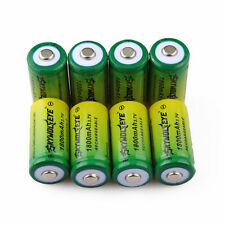 8pcs SKYWOLFEYE 16340 CR123A LR123A 3.7V 1800mAh Li-Ion Rechargeable Battery USA