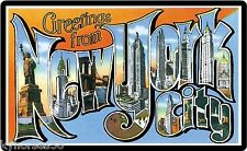 Greetings From New York City Souvenirs Travel Refrigerator Magnet