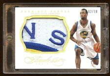 2013 FLAWLESS HARRISON BARNES #D /10 JUMBO PATCH LOGO *NS* PATCH GOLD  10 MADE !