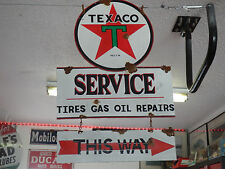 Antique style vintage vintage Texaco Star dealer service gas pump sign set