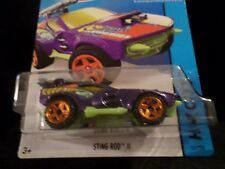 HW HOT WHEELS 2014 HW CITY #55/250 STING ROD II HOTWHEELS PURPLE MILITARY VHTF