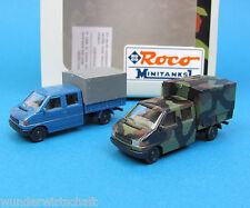 Roco Minitanks H0 842 Set VW T4 DoKa Pritsche getarnt Bundeswehr HO 1:87 special